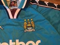 Classic Football Shirts   1997 Manchester City Vintage Old Jerseys